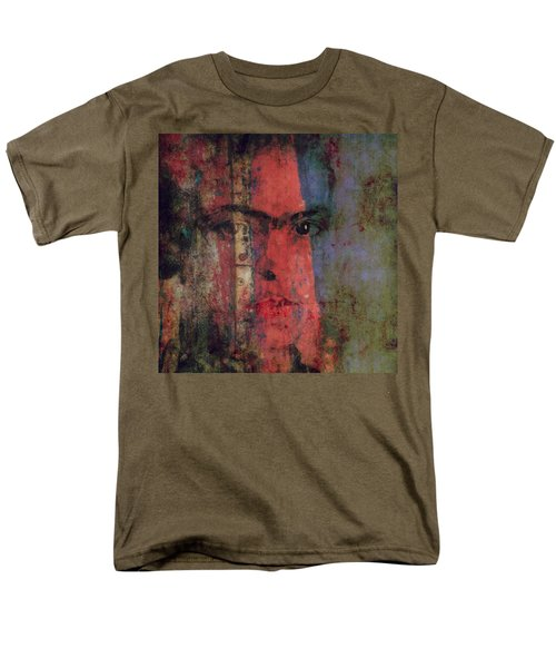 Men's T-Shirt  (Regular Fit) featuring the painting Behind The Painted Smile by Paul Lovering