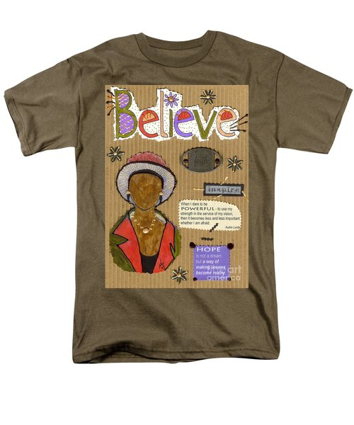 Men's T-Shirt  (Regular Fit) featuring the mixed media Believe Me by Angela L Walker