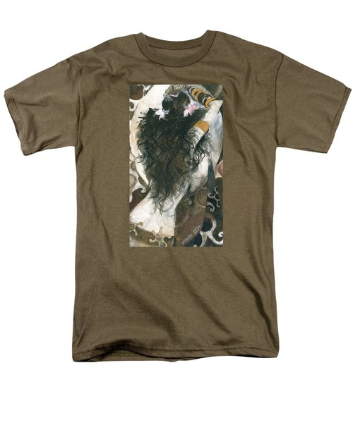 Men's T-Shirt  (Regular Fit) featuring the painting Belly Dancer And The Mirror by Maya Manolova