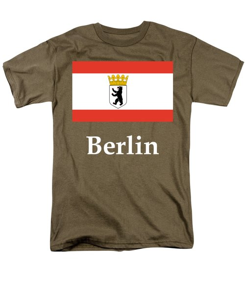 Berlin, Germany Flag And Name Men's T-Shirt  (Regular Fit)