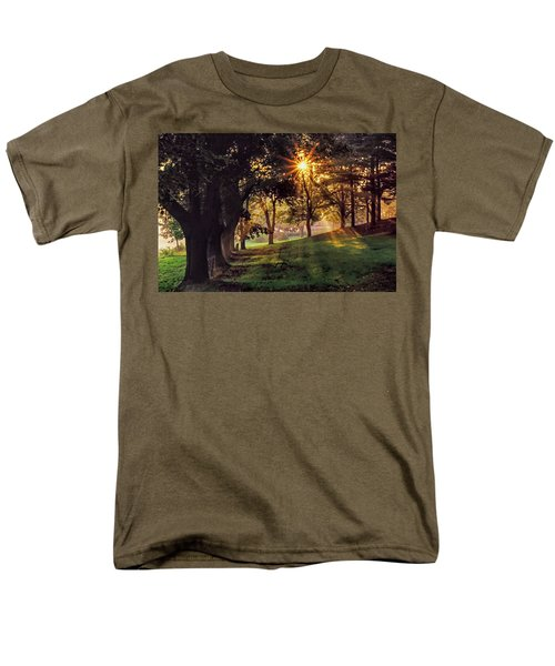 Bernharts Dam Fog 001 Men's T-Shirt  (Regular Fit) by Scott McAllister
