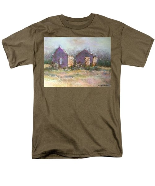 Men's T-Shirt  (Regular Fit) featuring the pastel Bethel School At Sunset by Rebecca Matthews