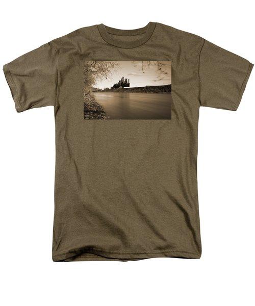 Bethlehem Steel Along The Lehigh Men's T-Shirt  (Regular Fit) by Jennifer Ancker