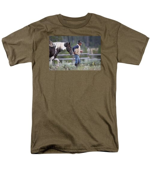 Big Horn Cowboy Men's T-Shirt  (Regular Fit) by Diane Bohna