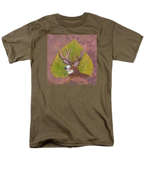 Big Mule Deer Buck Men's T-Shirt  (Regular Fit) by Ralph Root