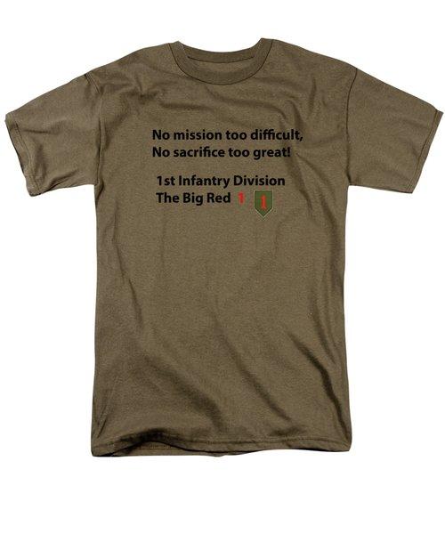 Big Red One Men's T-Shirt  (Regular Fit) by Dan McManus