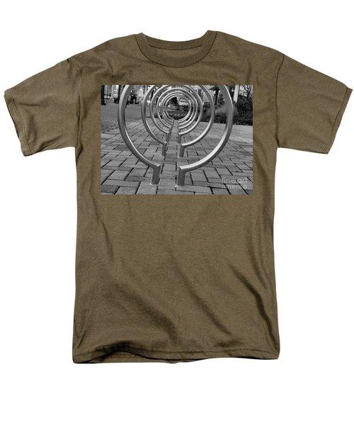 Bike Rack Black And White Version Men's T-Shirt  (Regular Fit) by John S