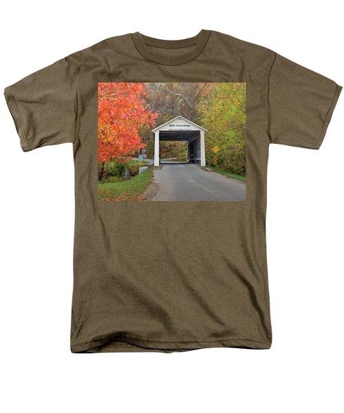 Billie Creek Covered Bridge Men's T-Shirt  (Regular Fit) by Harold Rau