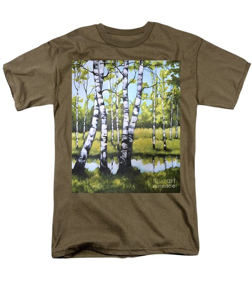 Birches In Spring Mood Men's T-Shirt  (Regular Fit) by Inese Poga