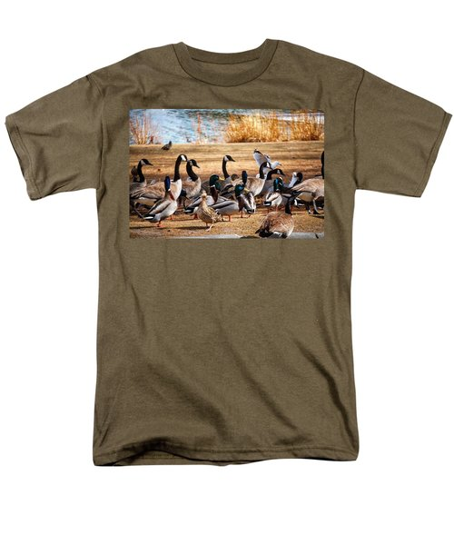 Men's T-Shirt  (Regular Fit) featuring the photograph Bird Gang Wars by Sumoflam Photography
