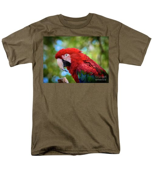 Men's T-Shirt  (Regular Fit) featuring the photograph Bird In Red by Lisa L Silva
