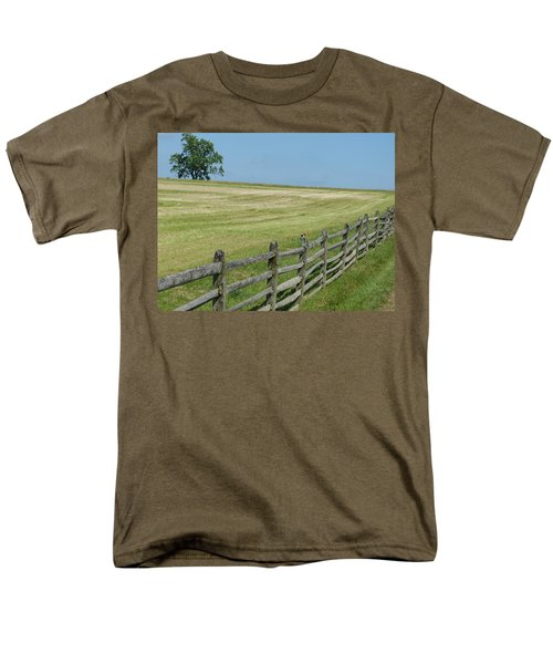 Men's T-Shirt  (Regular Fit) featuring the photograph Bird On A Fence by Donald C Morgan
