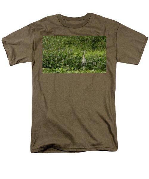 Bird Waiting Men's T-Shirt  (Regular Fit) by Mark Minier
