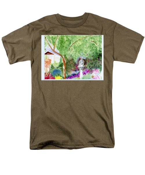 Men's T-Shirt  (Regular Fit) featuring the painting Birdhouse by Jamie Frier