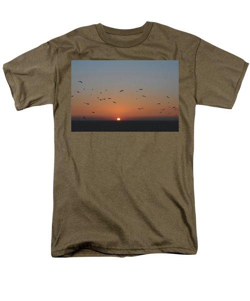 Birds In Sunset Men's T-Shirt  (Regular Fit) by Haleh Mahbod