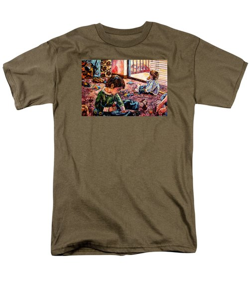 Men's T-Shirt  (Regular Fit) featuring the painting Birthday Party Or A Childs View by Kendall Kessler