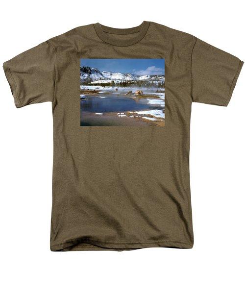 Biscuit Basin Elk Herd Men's T-Shirt  (Regular Fit) by Ed  Riche