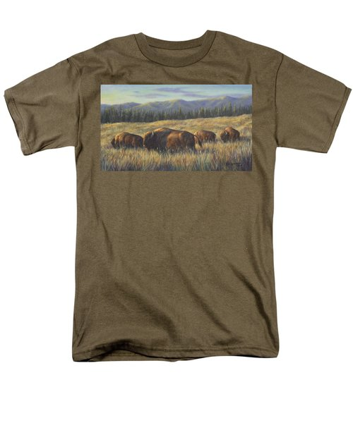 Men's T-Shirt  (Regular Fit) featuring the painting Bison Bliss by Kim Lockman