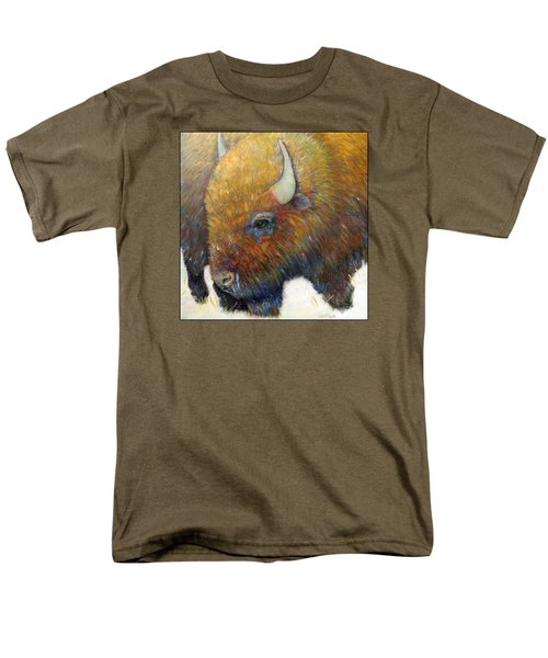 Bison For T-shirts And Accessories Men's T-Shirt  (Regular Fit) by Loretta Luglio