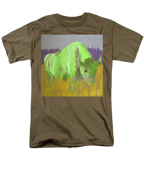 Bison On The American Plains Men's T-Shirt  (Regular Fit) by Donald J Ryker III