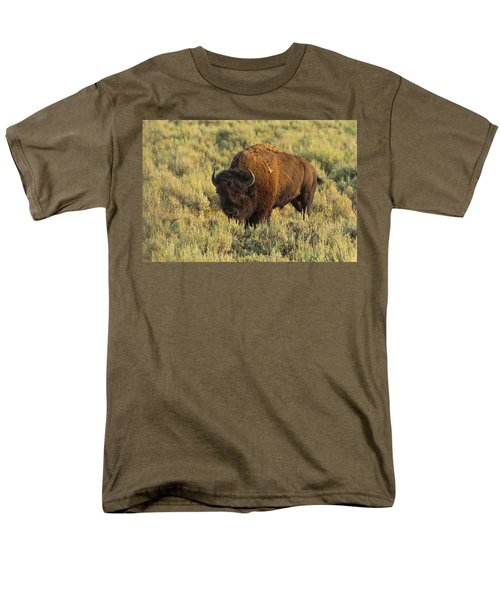 Bison Men's T-Shirt  (Regular Fit) by Sebastian Musial