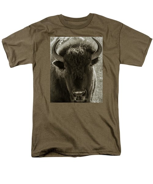 Bison Surprise Men's T-Shirt  (Regular Fit) by Elizabeth Eldridge