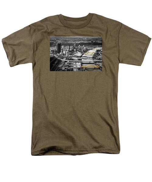 Black And Gold Pittsburgh  Men's T-Shirt  (Regular Fit) by Emmanuel Panagiotakis