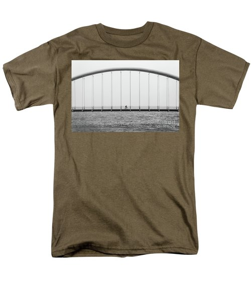Men's T-Shirt  (Regular Fit) featuring the photograph Black And White Bridge by MGL Meiklejohn Graphics Licensing