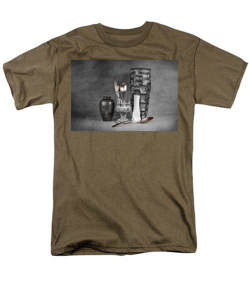 Men's T-Shirt  (Regular Fit) featuring the photograph Black And White Composition by Tom Mc Nemar