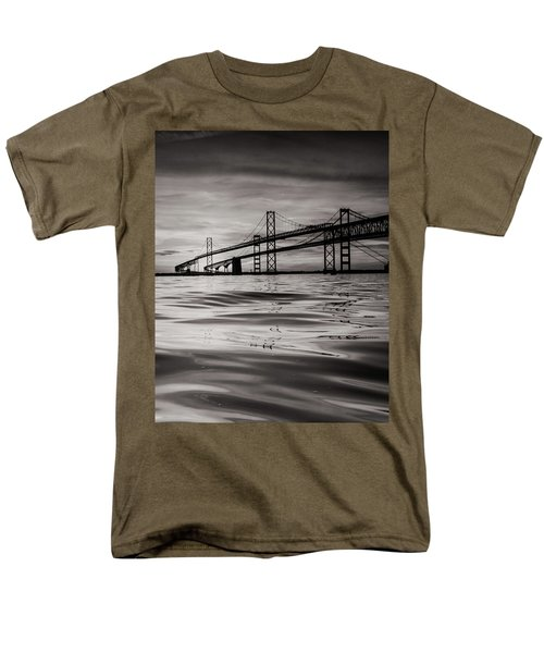 Men's T-Shirt  (Regular Fit) featuring the photograph Black And White Reflections 2 by Jennifer Casey