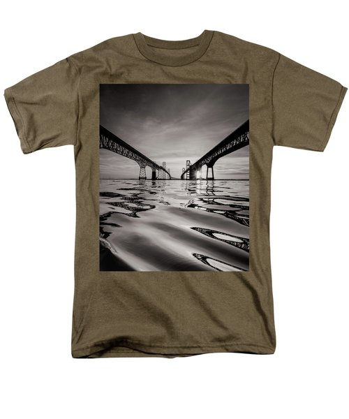 Black And White Reflections Men's T-Shirt  (Regular Fit)