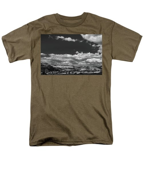 Black And White Small Town  Men's T-Shirt  (Regular Fit) by Jingjits Photography