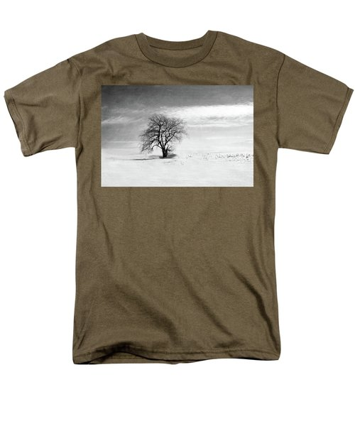 Black And White Tree In Winter Men's T-Shirt  (Regular Fit) by Brooke T Ryan