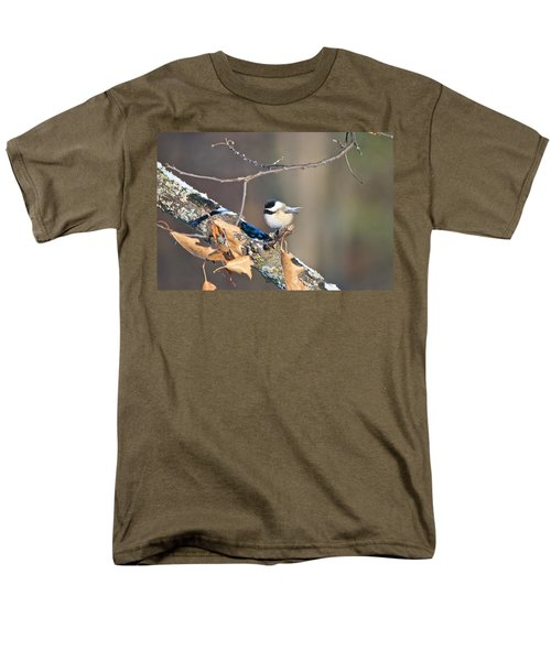 Black Capped Chickadee 1134 Men's T-Shirt  (Regular Fit) by Michael Peychich