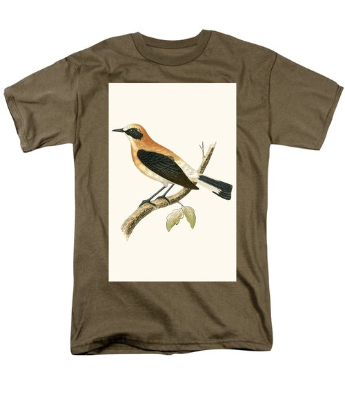 Black Eared Wheatear Men's T-Shirt  (Regular Fit) by English School