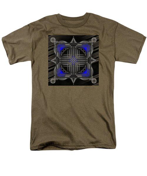 Men's T-Shirt  (Regular Fit) featuring the digital art Black Mandala by Mario Carini