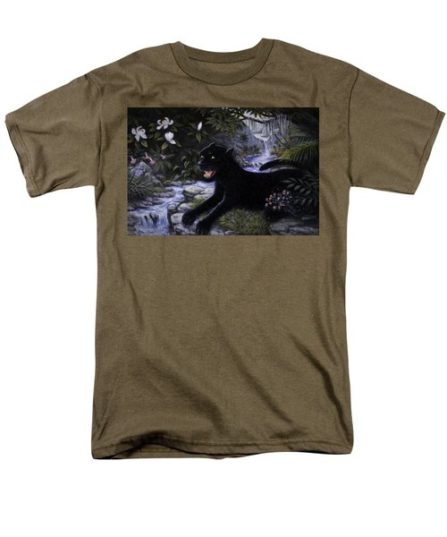Black Panther Men's T-Shirt  (Regular Fit) by Charles Kim