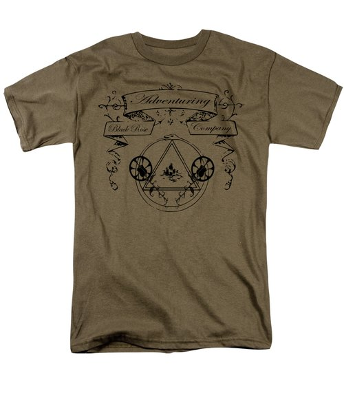 Black Rose Adventuring Co. Men's T-Shirt  (Regular Fit) by Nyghtcore Studio