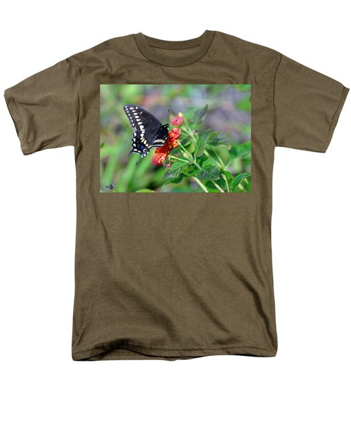 Black Swallowtail Men's T-Shirt  (Regular Fit) by Kay Lovingood