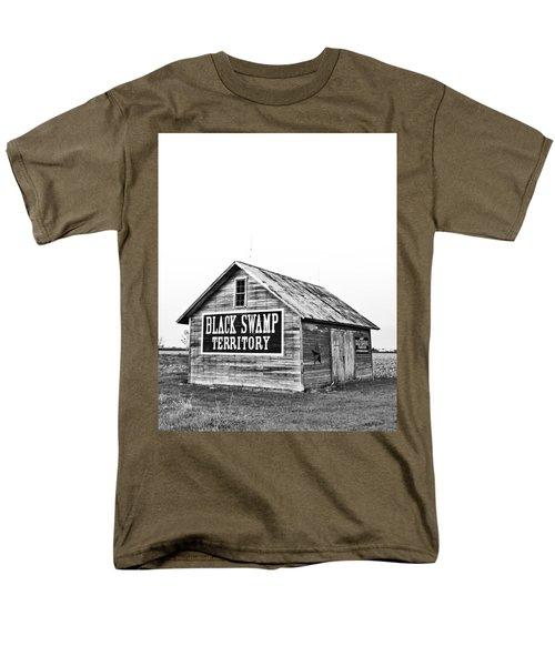 Black Swamp Territory Men's T-Shirt  (Regular Fit) by Andrew Weills