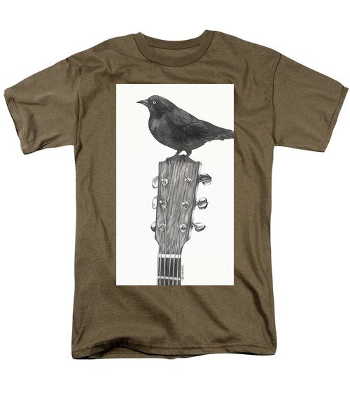 Men's T-Shirt  (Regular Fit) featuring the drawing Blackbird Solo  by Meagan  Visser