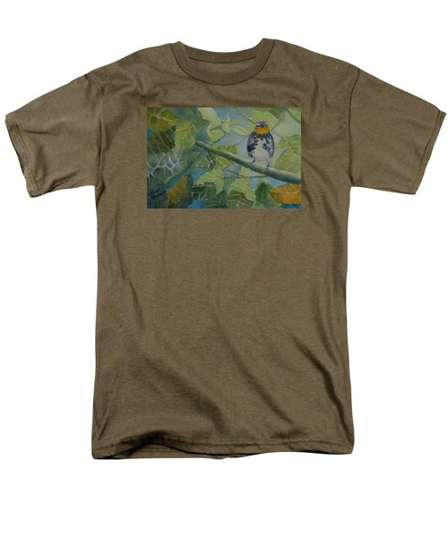 Blackburnian Warbler I Men's T-Shirt  (Regular Fit) by Ruth Kamenev