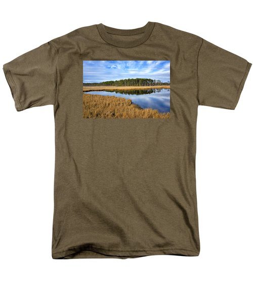 Men's T-Shirt  (Regular Fit) featuring the photograph Blackwater National Wildlife Refuge In Maryland by Brendan Reals