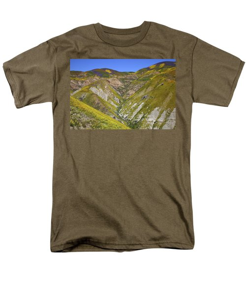 Blanket Of Wildflowers Cover The Temblor Range At Carrizo Plain National Monument Men's T-Shirt  (Regular Fit) by Jetson Nguyen