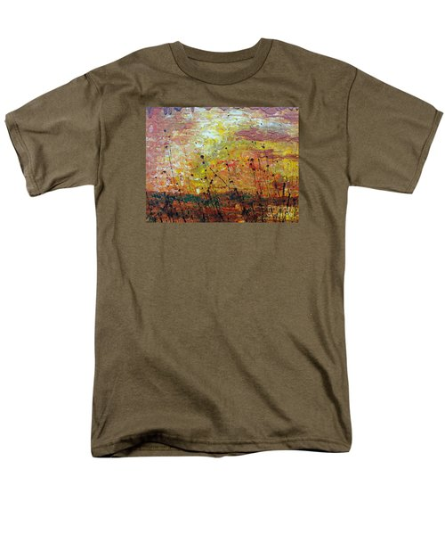 Men's T-Shirt  (Regular Fit) featuring the painting Blazing Prairie by Jacqueline Athmann