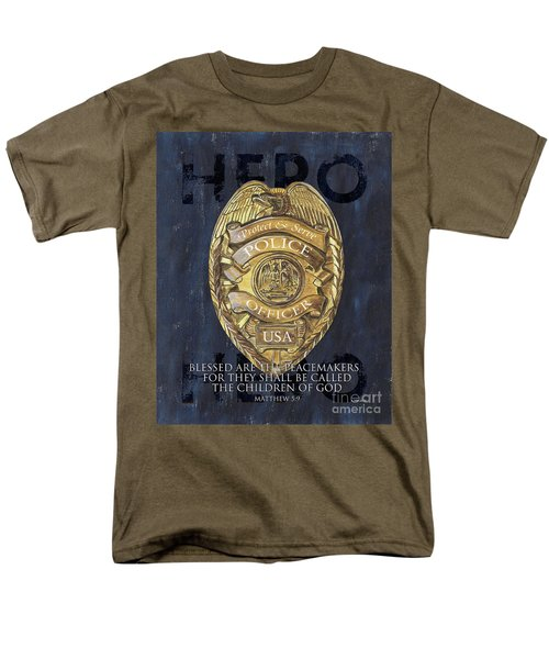 Blessed Are The Peacemakers Men's T-Shirt  (Regular Fit) by Debbie DeWitt