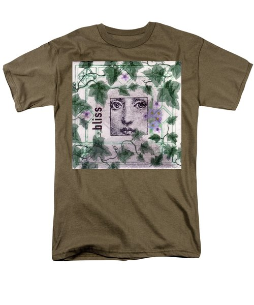 Men's T-Shirt  (Regular Fit) featuring the mixed media Bliss On Tile by Desiree Paquette