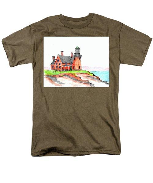 Block Island South Lighthouse Men's T-Shirt  (Regular Fit)