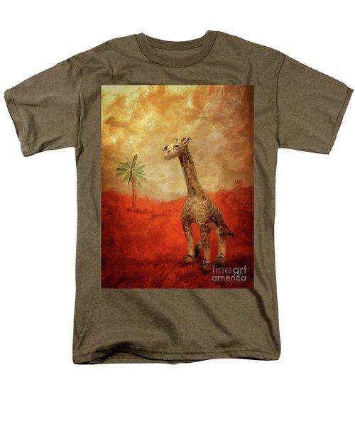 Men's T-Shirt  (Regular Fit) featuring the digital art Block's Great Adventure by Lois Bryan