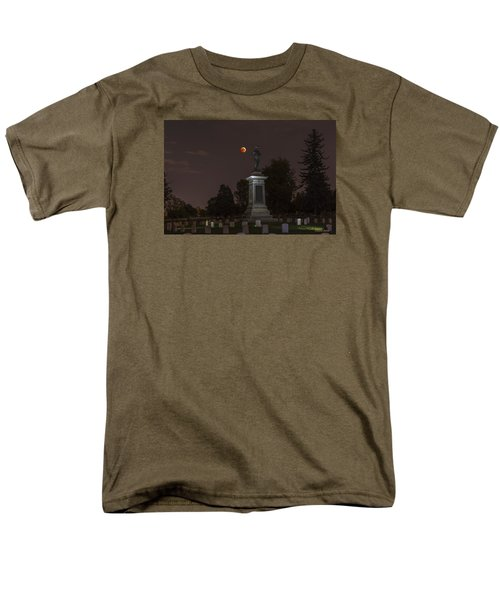 Blood Moon At The Colorado Volunteers Memorial Men's T-Shirt  (Regular Fit) by Stephen  Johnson